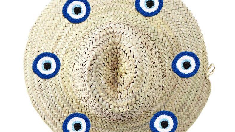 Evil Eye Straw Hat