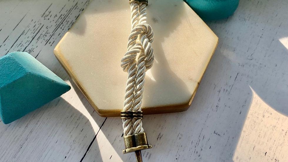 Nautical Knot Anchor Bracelet- ivory