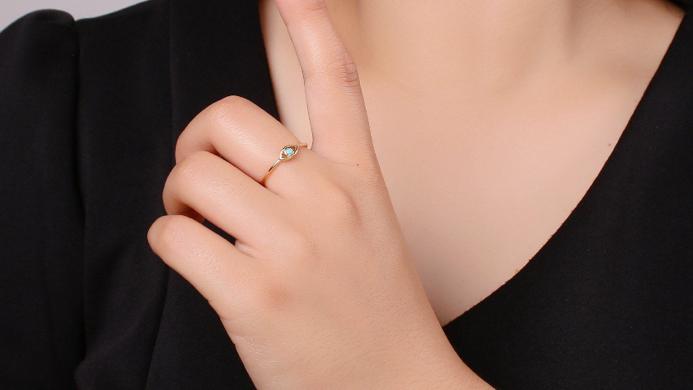Dainty Evil Eye Ring