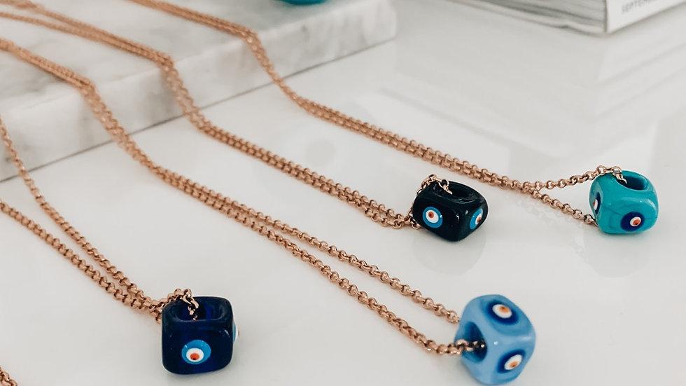 """Calissa"" Evil Eye Necklace - Gold filled - Choose your color"