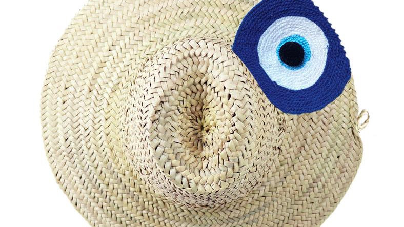 Evil Eye Beach hat- single