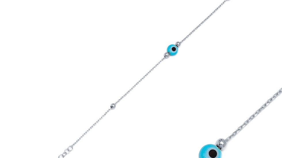 Dainty Evil Eye Bracelet