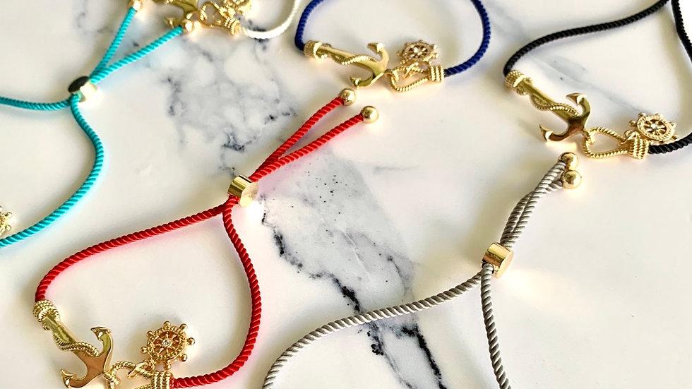 Anchors Away Nautical Bracelet