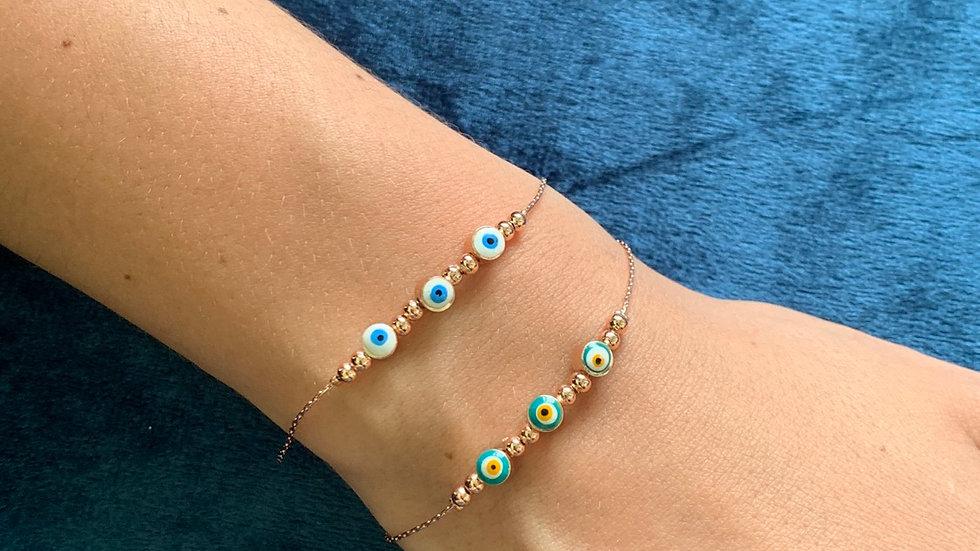"""Hera"" Evil Eye Bracelet"