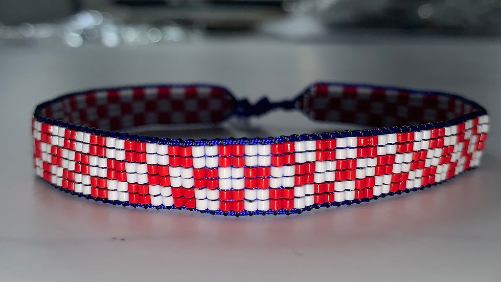 Croatian Checkered Anklet