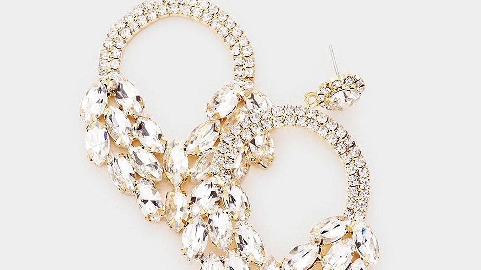 """""""Eros"""" Crystal Earrings"""