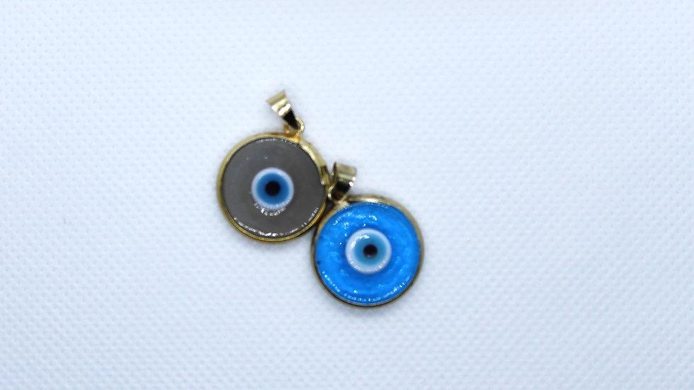 Murano Glass Evil Eye Pendant Necklace
