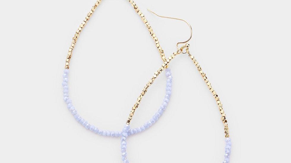 """""""Milos"""" Earring- periwinkle blue"""