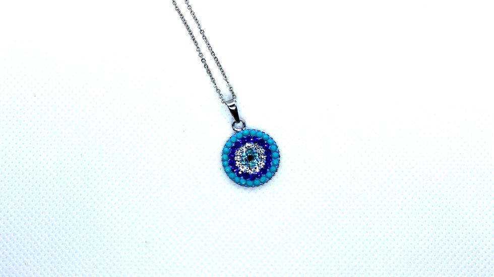 Turquoise Evil Eye Pendant Necklace