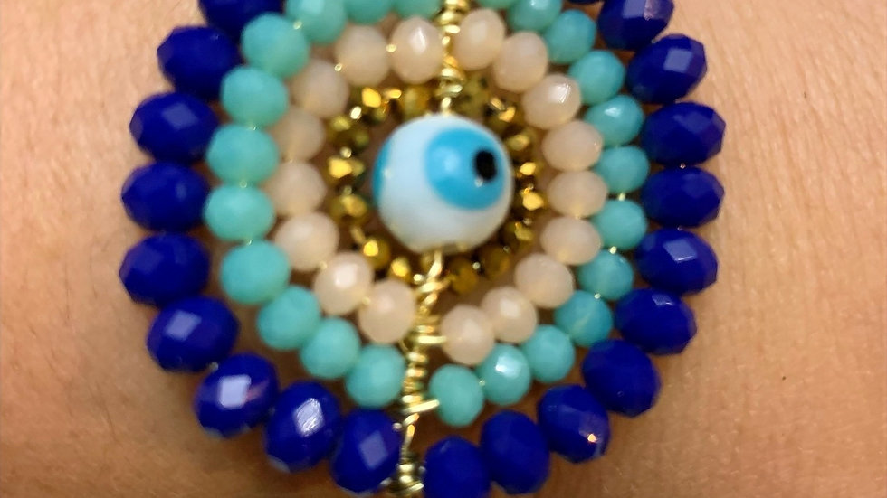 Gorgeous Oversized Evil Eye Rope Bracelet
