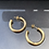 Thumbnail: Mini Open Back Gold Hoops