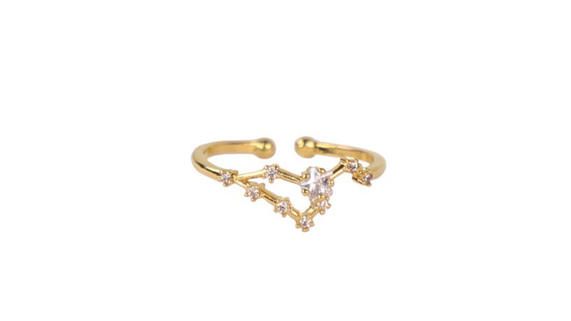 Leo Constellation Ring