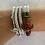 Thumbnail: Nautical Knot Anchor Bracelet- red/white/blue