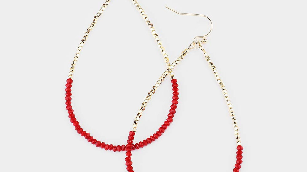 """Milos"" Red Earrings"