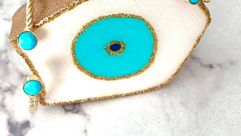 Turquoise Rope Bangle