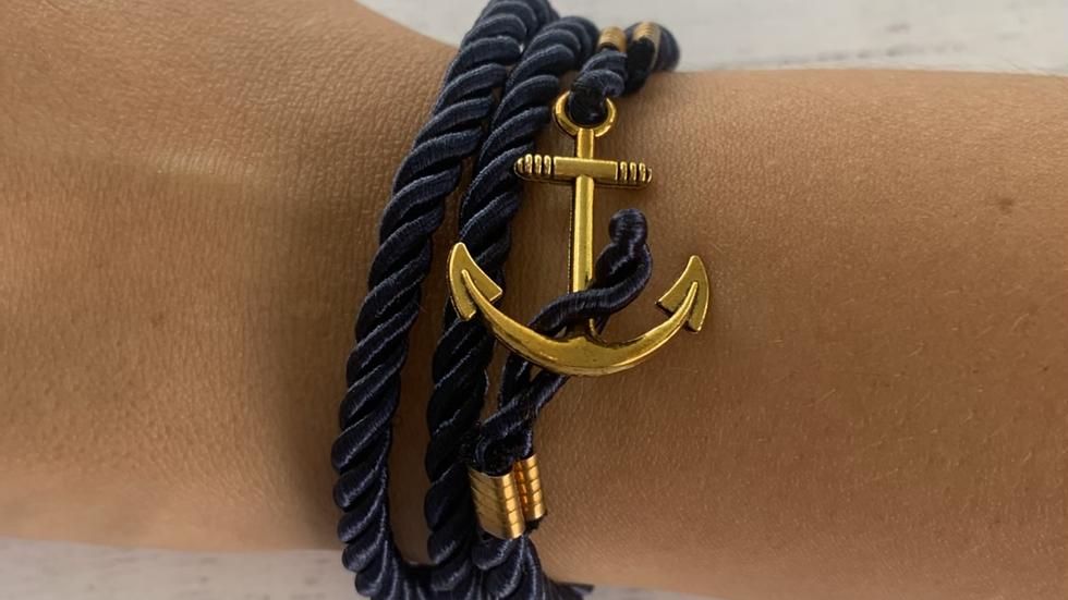 Nautical Anchor Rope Bracelet