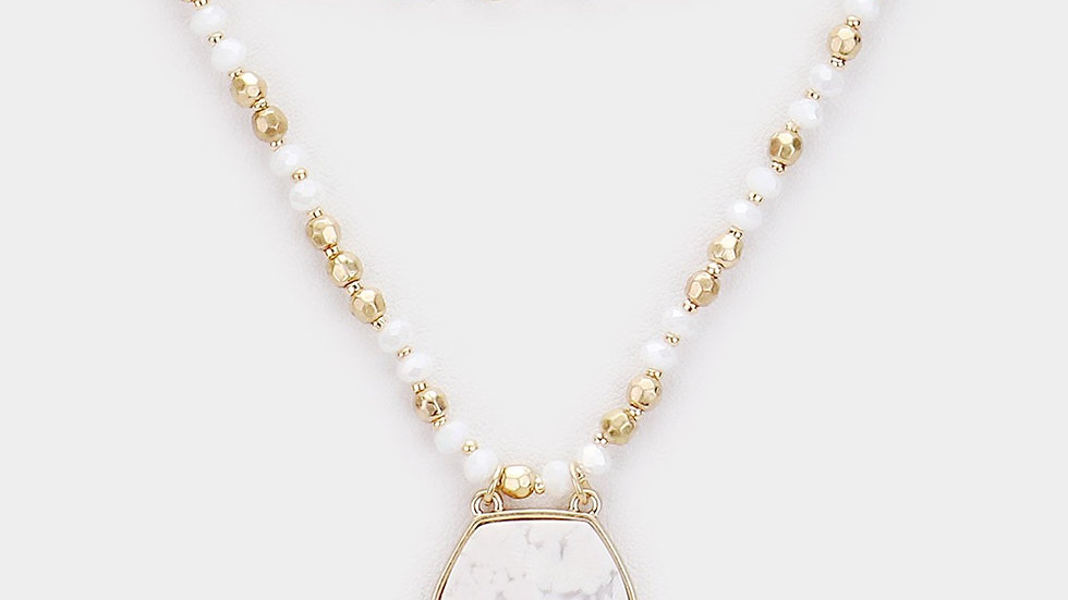 Howlite Triple Layer Necklace