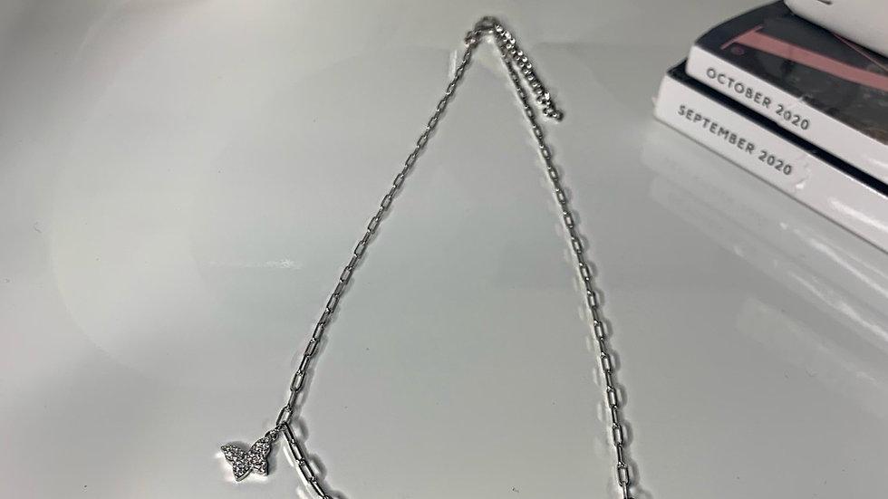 Triple Butterfly Choker Necklace