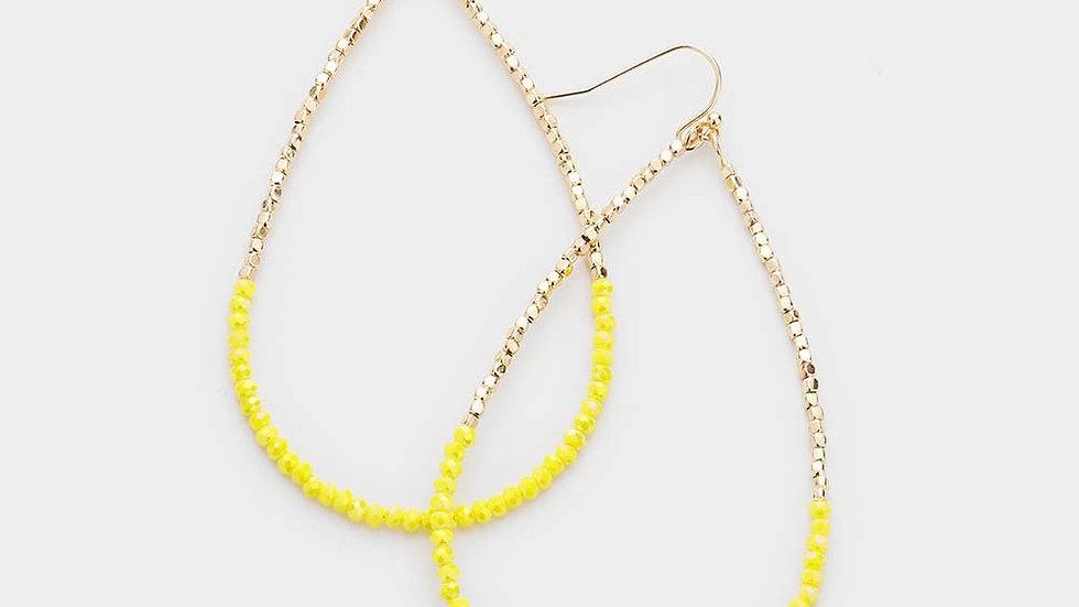 """""""Milos"""" Yellow Earrings"""