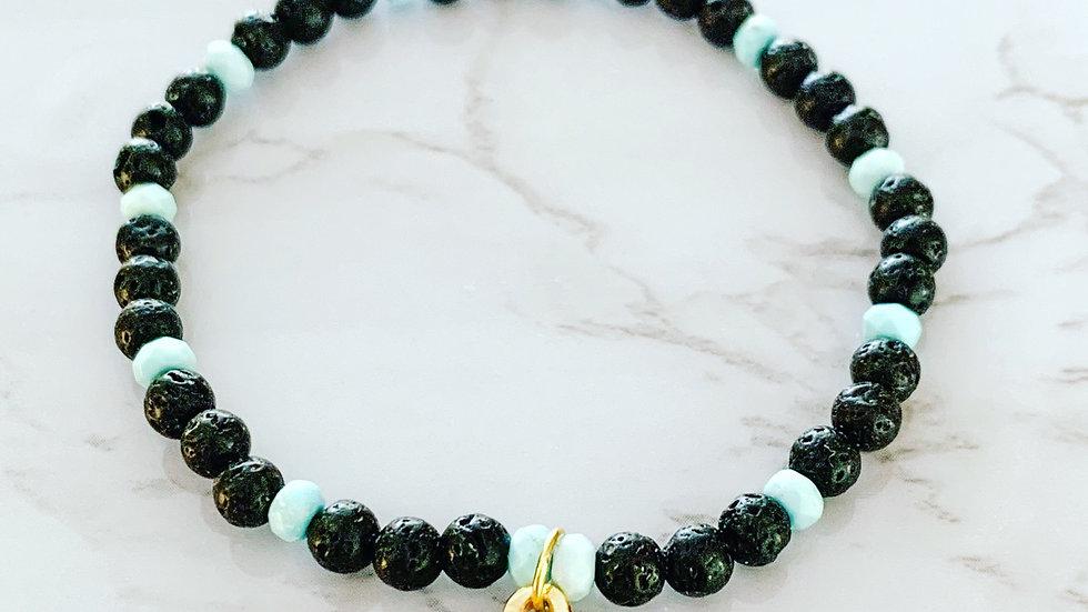 Lava & Turquoise Evil Eye Bracelet