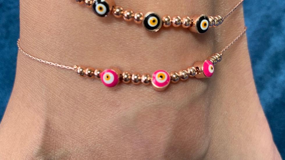 """""""Markella"""" Rose Gold Anklet and Bracelet"""