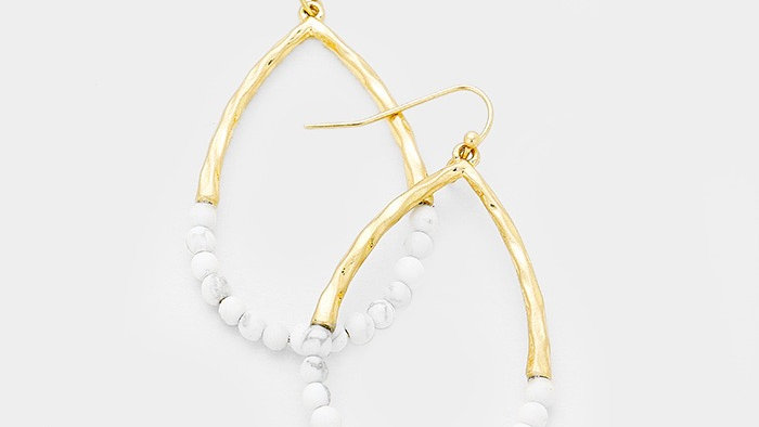 Marble & Gold Earrings