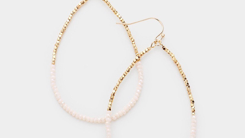 """""""Milos"""" Earrings- White & Gold"""