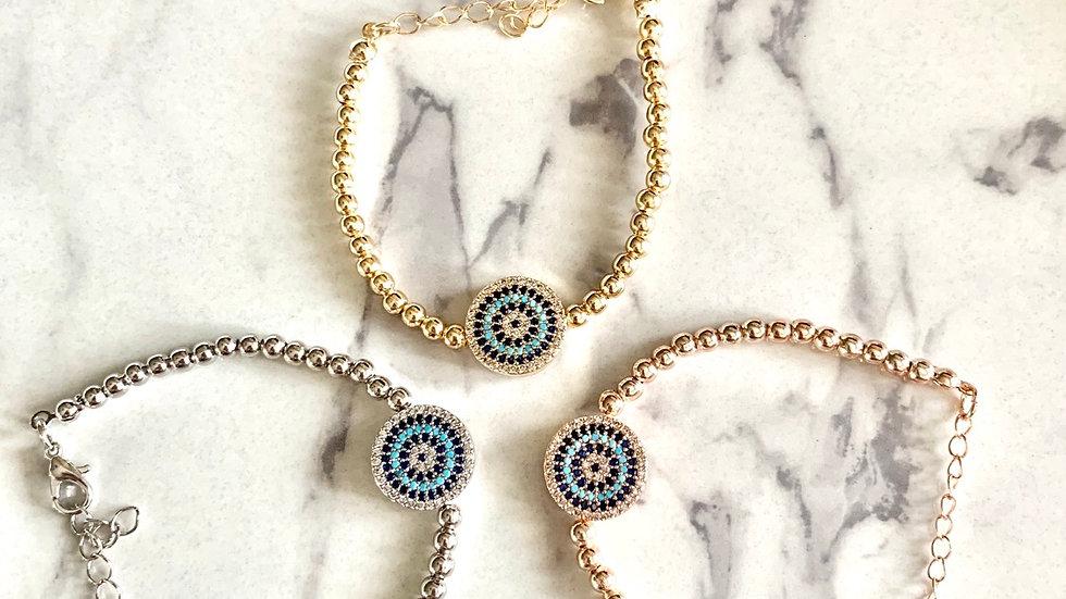 """Santorini"" Evil Eye Bracelet"