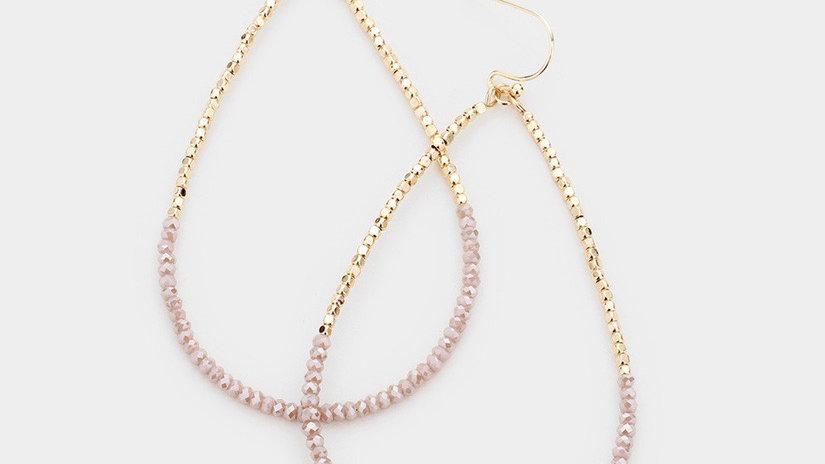 """Milos"" Earrings- Blush & Gold"