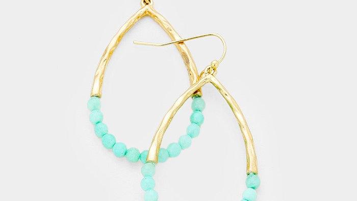 Mint & Gold Earrings