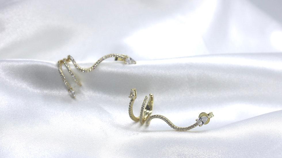 """""""Lori"""" Snake Cuff Earring"""