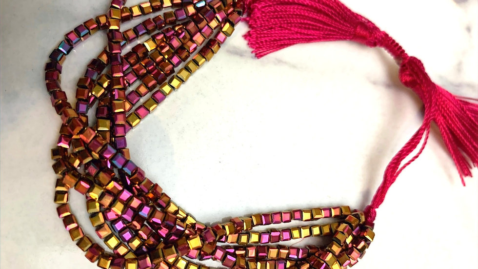 Berry Flat Beaded Bracelet