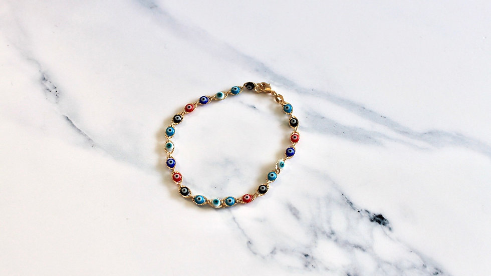 Gold Filled Multicolor Bracelet