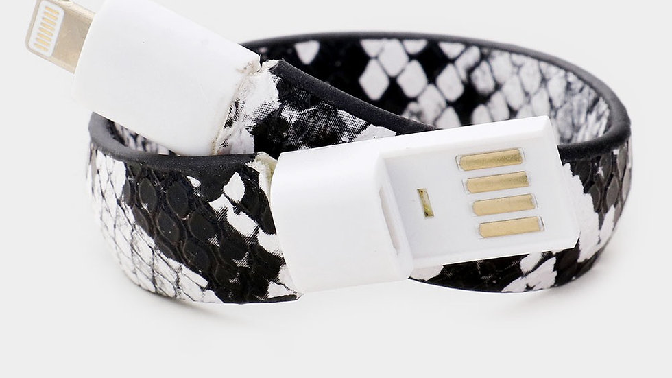 Snakeskin USB Bracelet