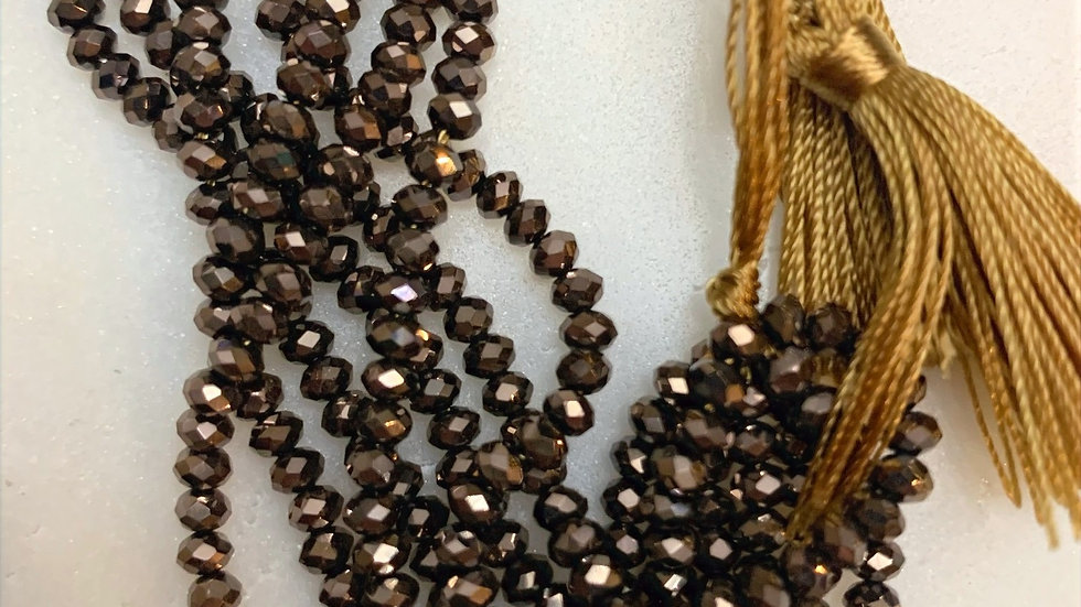 Dark Bronze & Gold Bracelet