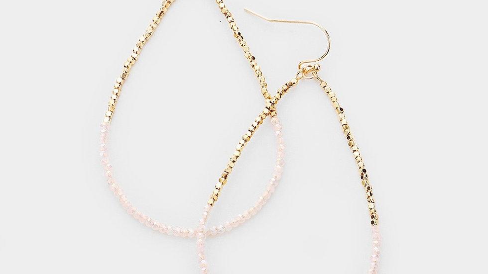 """""""Milos"""" Earrings- light pink"""