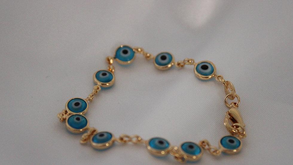 Gold Filled Blue Bracelet- Girls