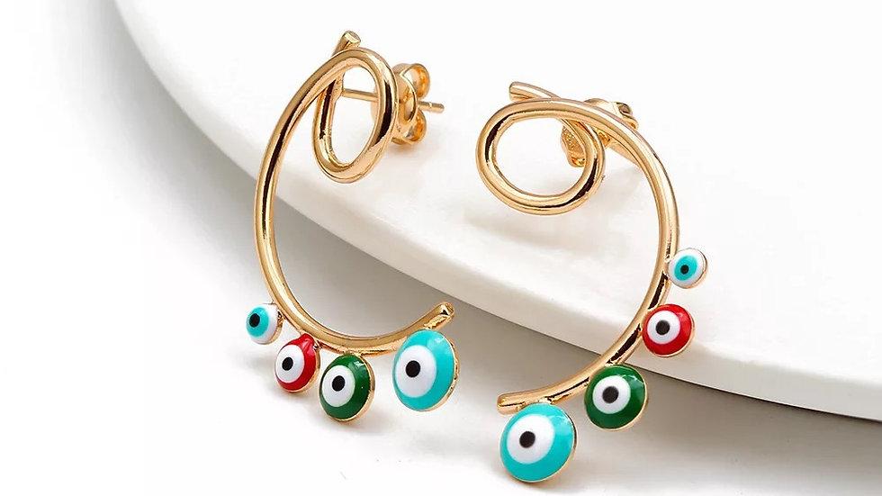 Evil Eye Earrings - multicolor