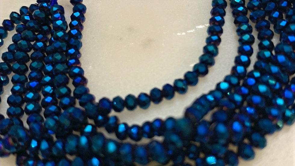 Midnight Royal Beaded Bracelet