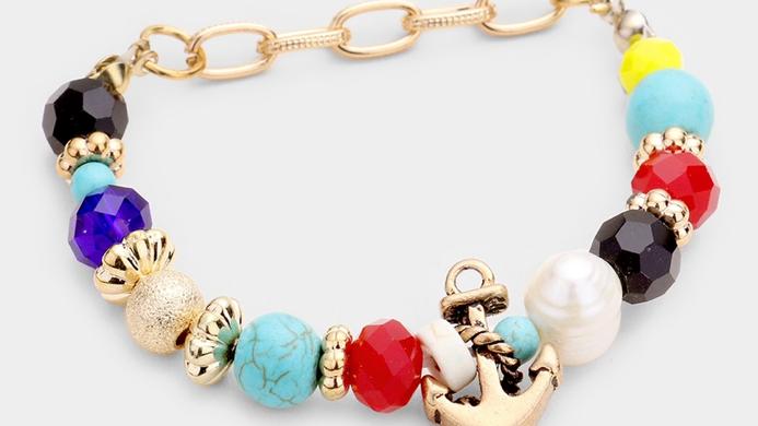 Multi-color Anchor Bracelet