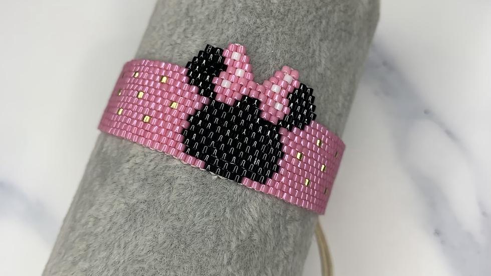 Minnie Mouse Beaded Bracelet