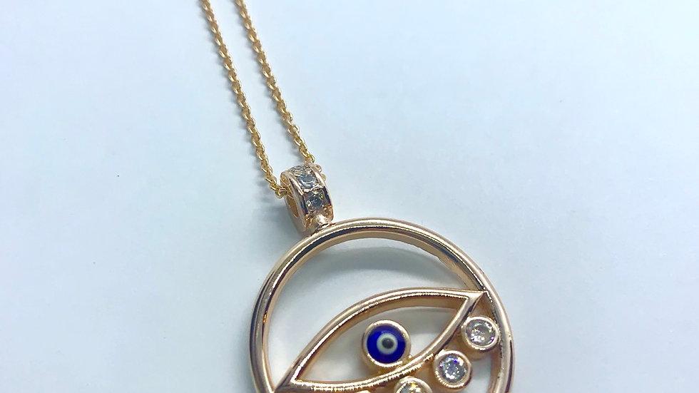 Glitz&Glam Evil Eye Necklace