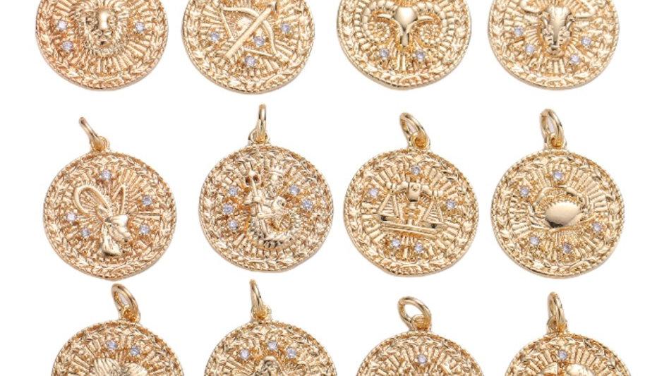 Coin Zodiac Necklace