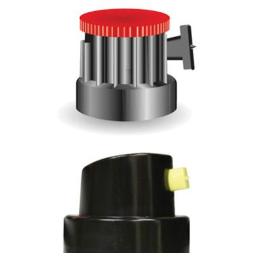 SprayMax® Fill Can® 3746213 Nozzle, Black/Yellow, Use With: 1K and 2K FillClean
