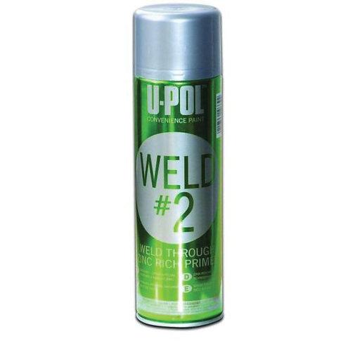 U-POL® UP0789 WELD#2 Weld-Through Primer, 450 mL, Metallic Silver, 53.8 sq-ft Co