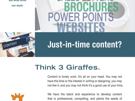 """Running Out Of Time. Perhaps """"Just-In-Time"""" Content Can Help."""