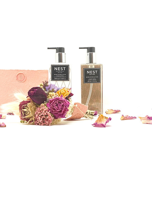 NEST Rose Noir & Oud Soap & Lotion Gift Set