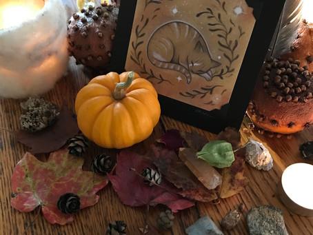 Samhain Reflections and a Samhain Bread Loaf.