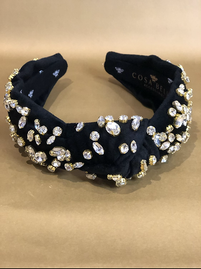 So Extra Luxe Velvet Top Knot Headband