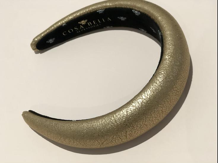 Rose Gold Metallic Padded Headband